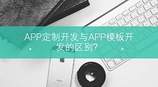 APP定制开发与APP模板开发的区别,如何选择?
